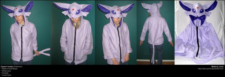 Espeon hoodie by Neon-Juma