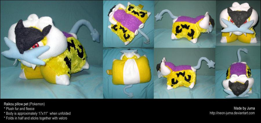 Raikou pillow pet by Neon-Juma