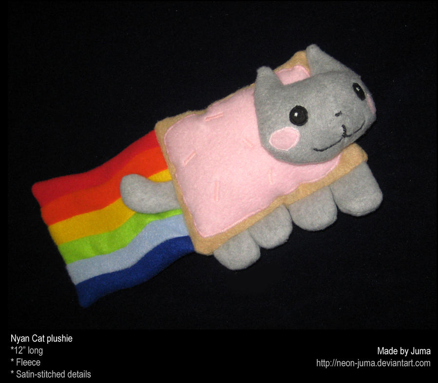 Nyan Cat plushie by Neon-Juma