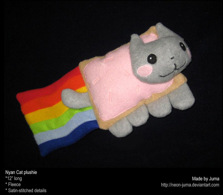 Nyan Cat plushie by Neon-Juma