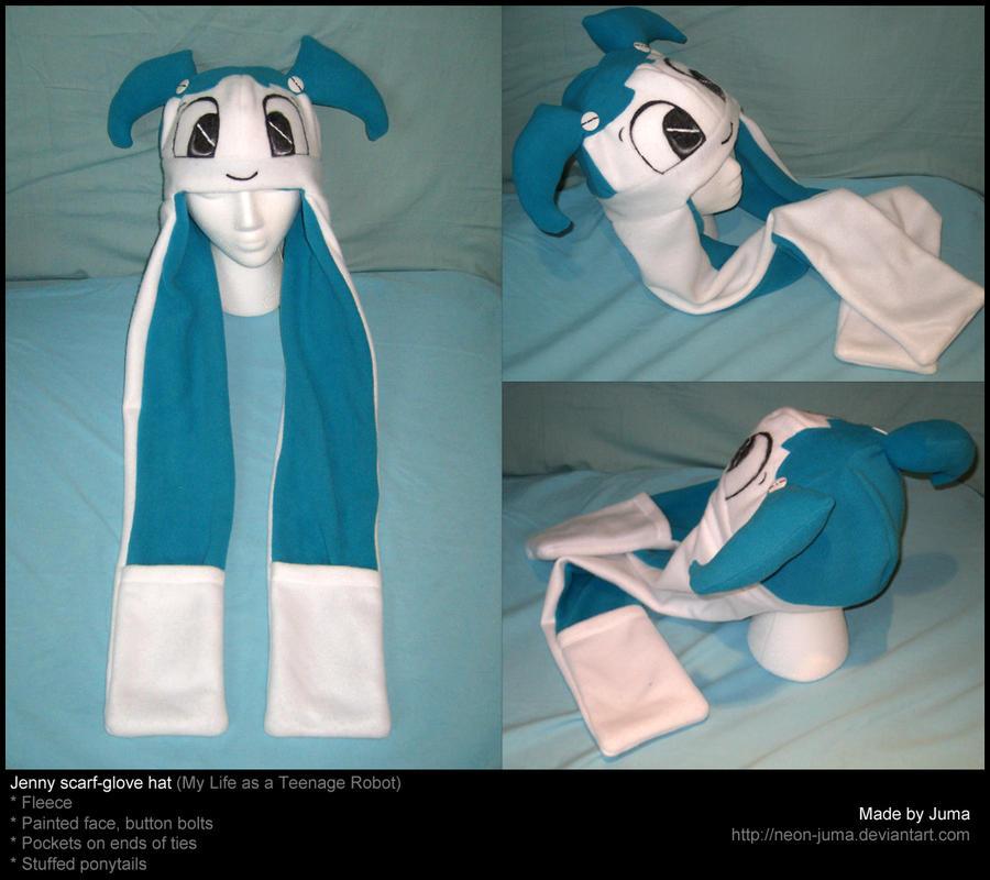Jenny scarf-glove hat by Neon-Juma