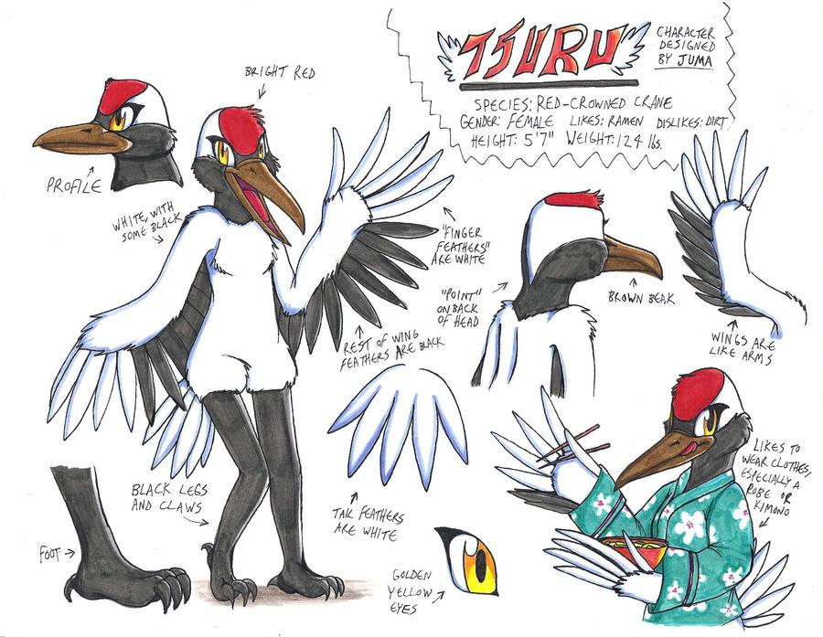 Tsuru ref sheet by Neon-Juma