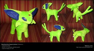 Standing shiny Espeon plushie by Neon-Juma