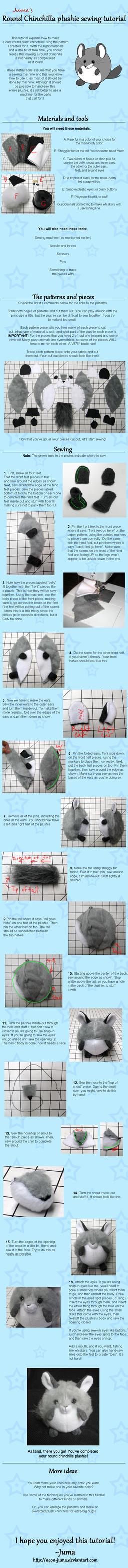 Round Chinchilla plushie tutorial by Neon-Juma