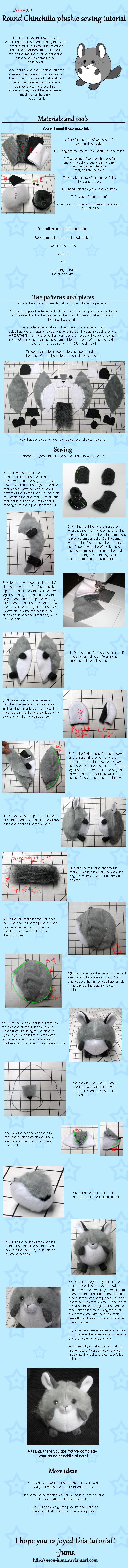 Round Chinchilla plushie tutorial