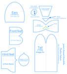 Round chinchilla plushie patterns Part 2