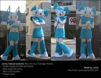 Jenny mascot costume by Neon-Juma
