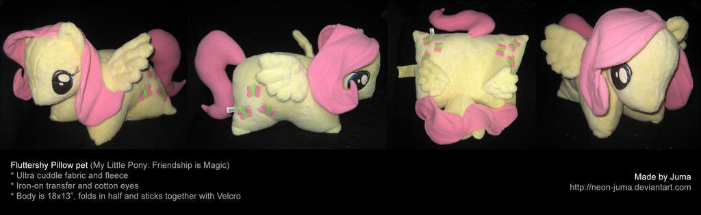 Fluttershy pillow pet by Neon-Juma
