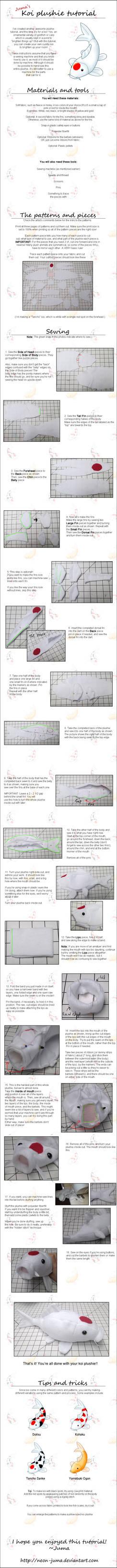 Koi plushie tutorial