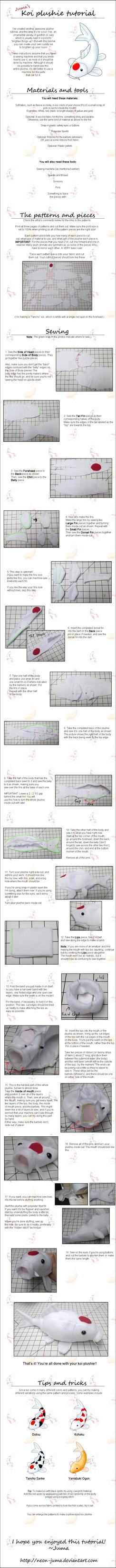 Koi plushie tutorial by Neon-Juma