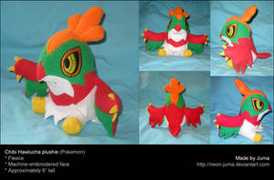 Chibi Hawlucha plushie by Neon-Juma
