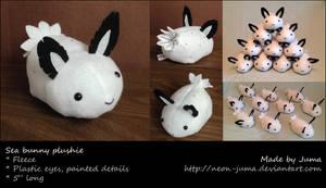 Sea bunny plushie by Neon-Juma