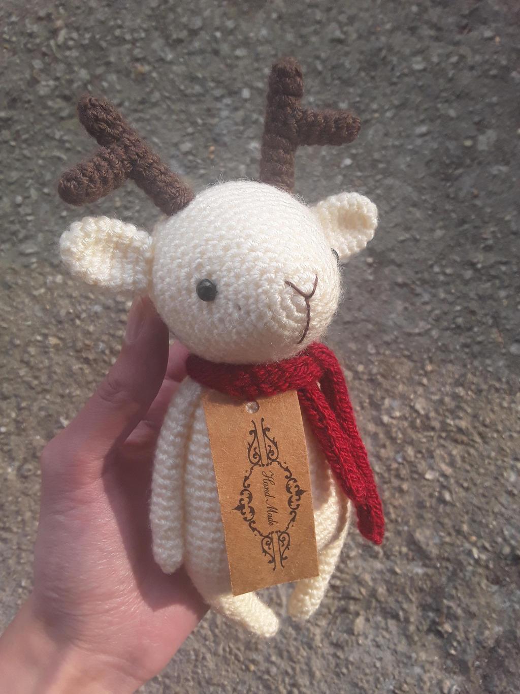 Amigurumi Rudolf Christmas deer Amigurumi Toy Crochet reindeer | Etsy | 1366x1024