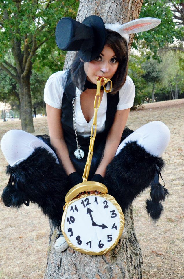 The white rabbit alice in wonderland costume