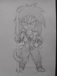 Raditz, 15-years-old (What If Series) by SonGoharotto