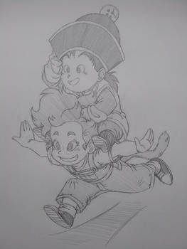 Gohan and Sukirret (What If Series)
