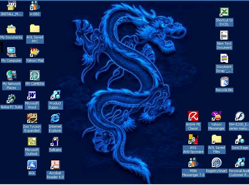 Desktop Screenshot-Dragon by 4eva-Art