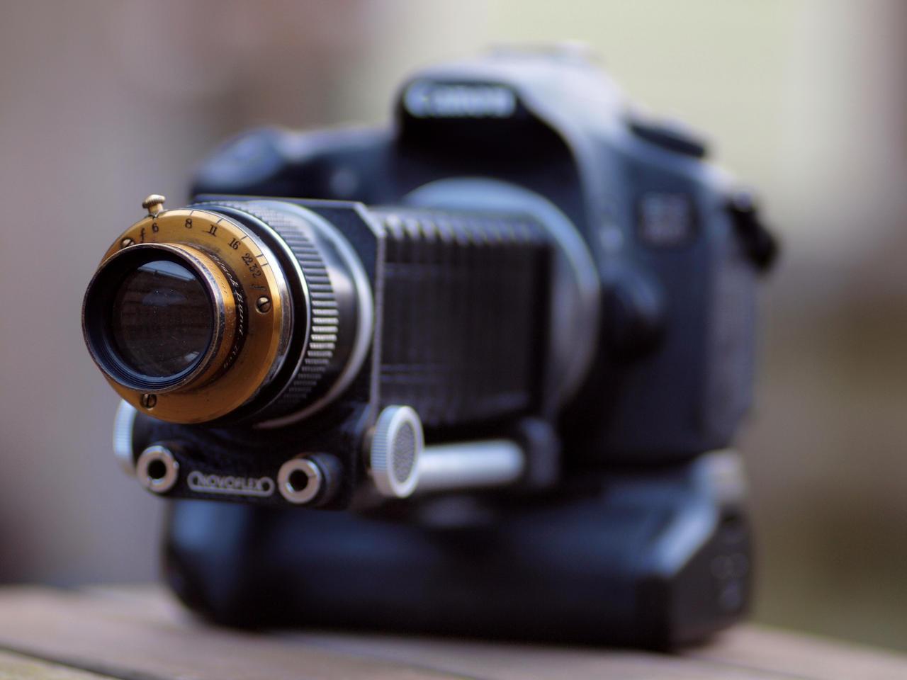 London Stereoscopic Co lens on Canon 60D