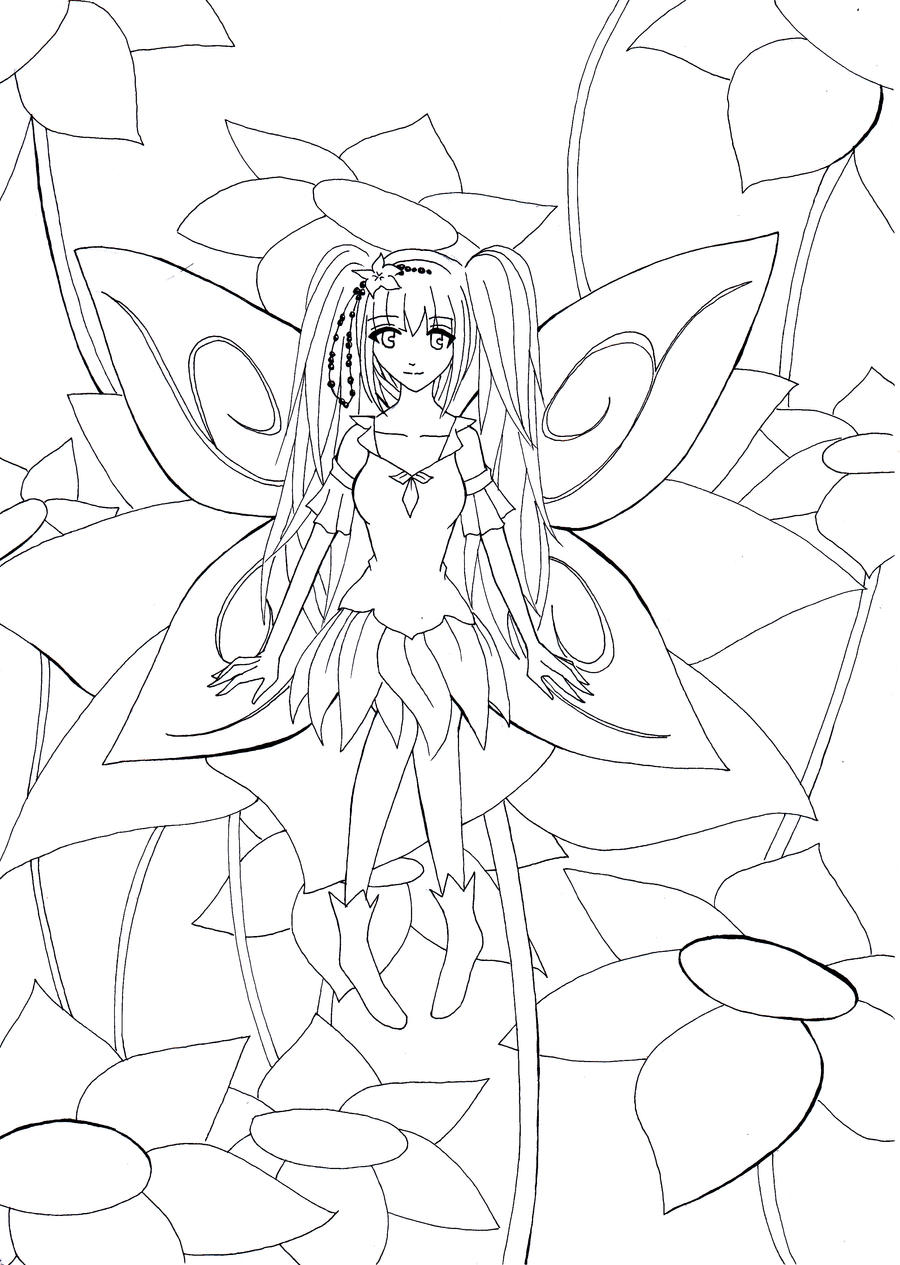 beautiful anime coloring pages printable coloring pages. Black Bedroom Furniture Sets. Home Design Ideas