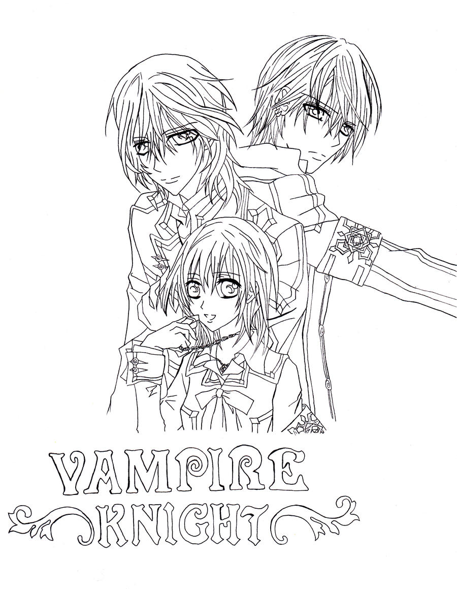 Vampire knight fanart by shineehello on deviantart for Vampire knight coloring pages