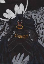 BATMAN - shadow of the bat  by GabRed-Hat