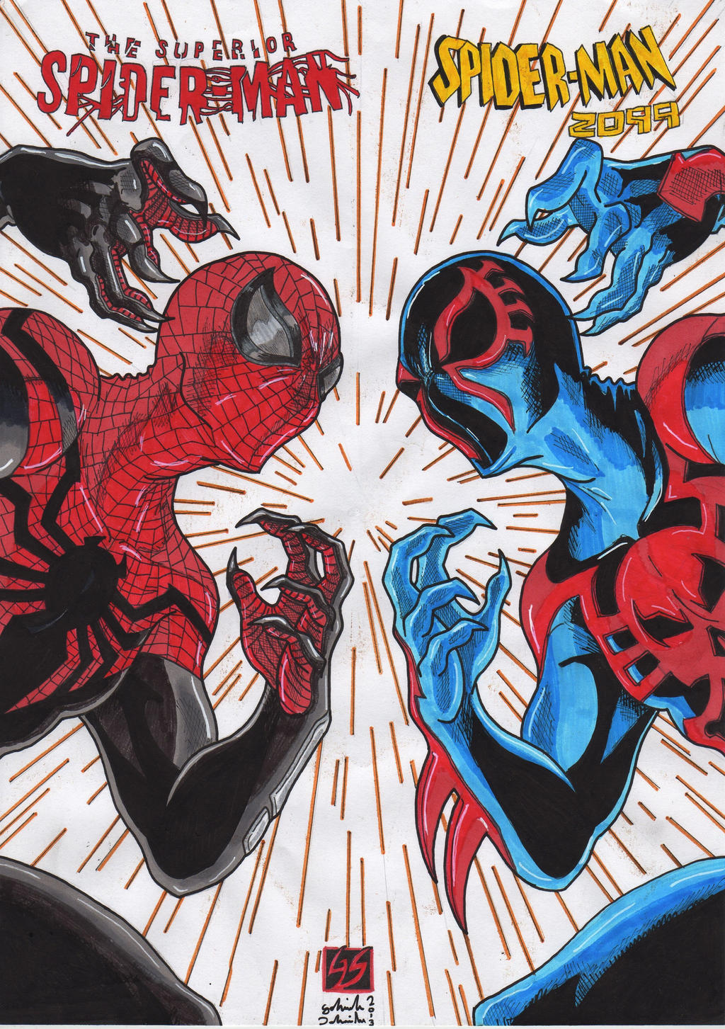 The Superior Spider-man vs Spider-man 2099 (co by GabRed ...
