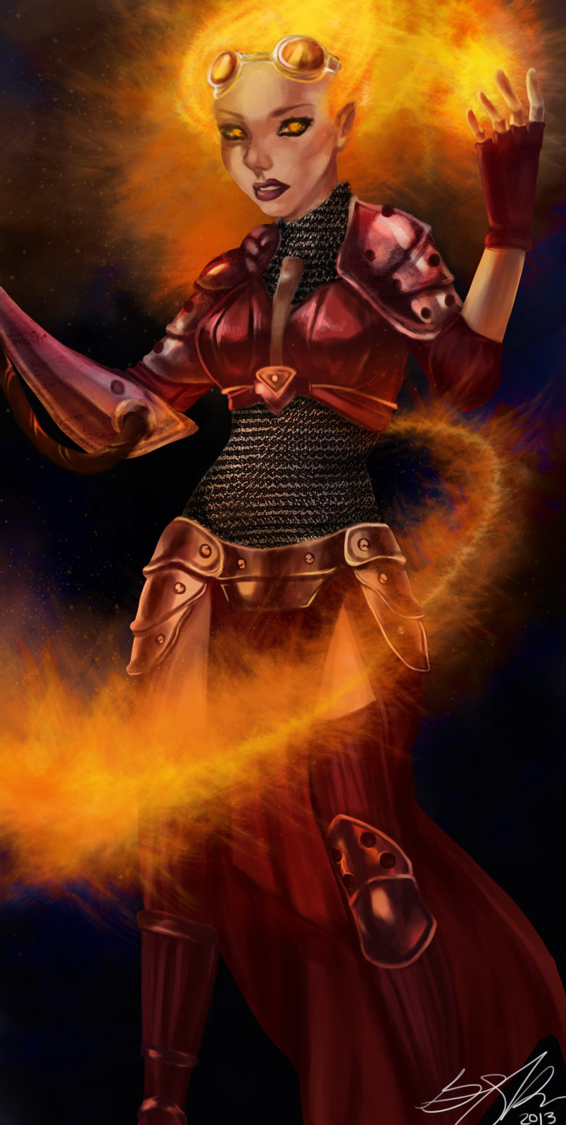 Chandra Nalaar -- Magic the Gathering by DoodlesSketchy on ... | 804 x 1598 jpeg 430kB