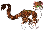 [OPEN] brown patched tabby adopt auction by kaciecat
