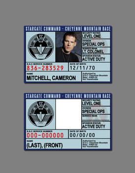 Stargate Command ID Badge