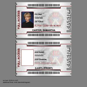 Stargate Command ID Badge 2