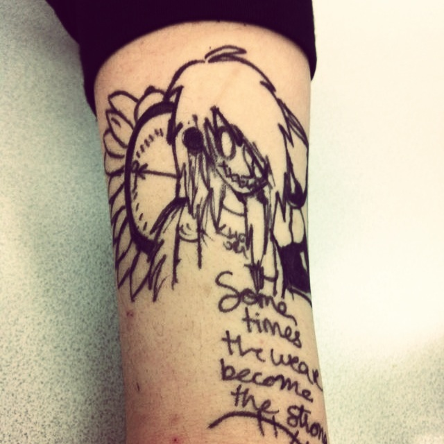 Homeroom Boredom Tattoo by ScarsFromOctober