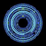 Blue Transparent HUD Circle