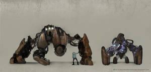 Hybrid Alien Cyborgs by Devin87