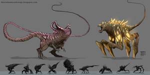 Creepy Alien Designs by Devin87