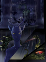 Hork Bajir Chronicles, graphic novel page by Axxonu