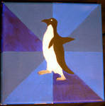 Socially Awkward Penguin painting by wolfpupgrl14