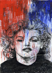 Marilyn In Red and Blue