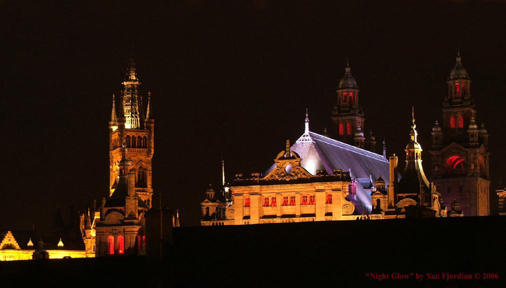 Glasgow Night Glow by Fjordian