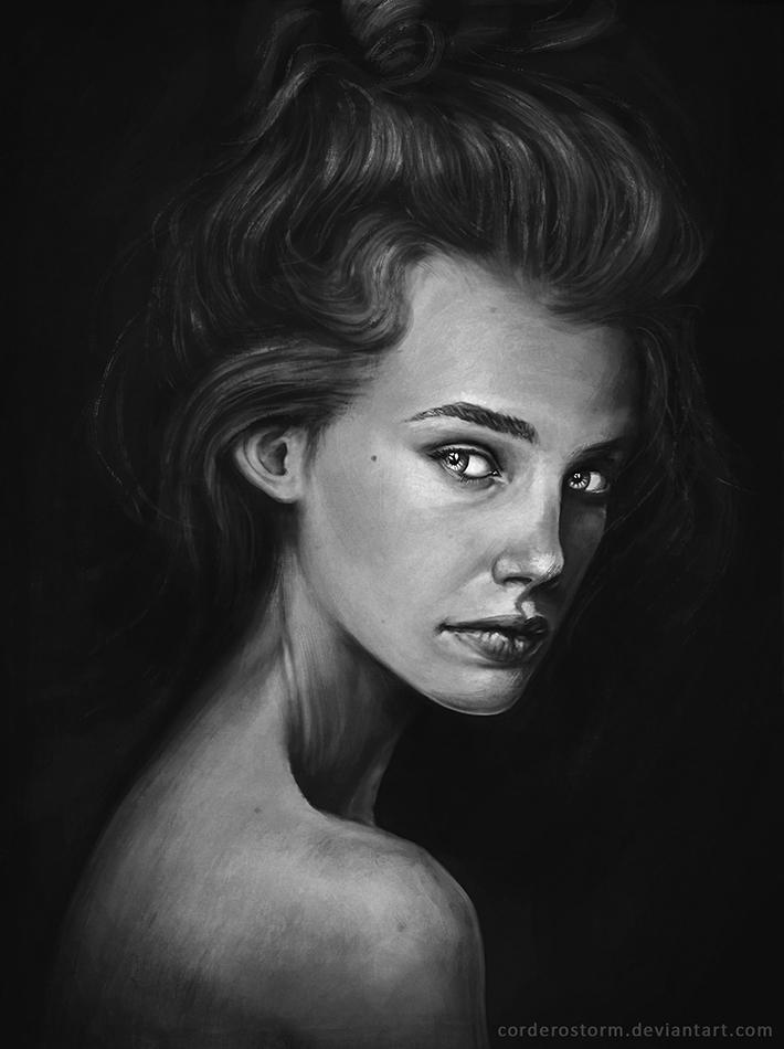 Portrait practice by CorderoStorm