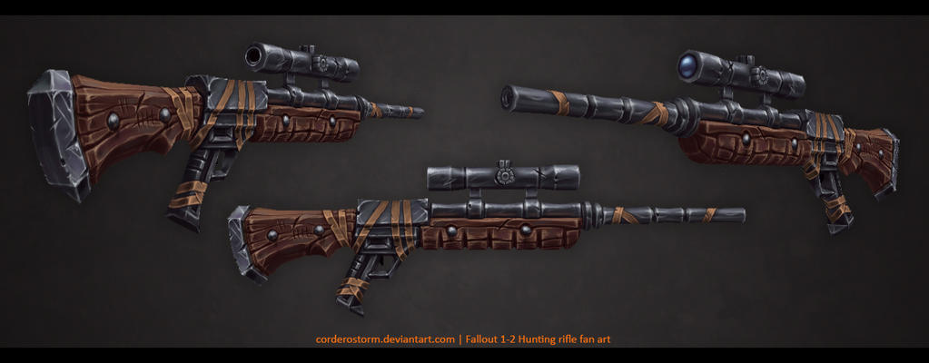 Hunting rifle by CorderoStorm