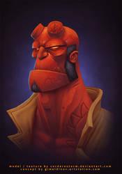 Hellboy by CorderoStorm