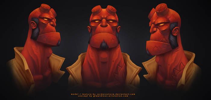 Hellboy sides by CorderoStorm