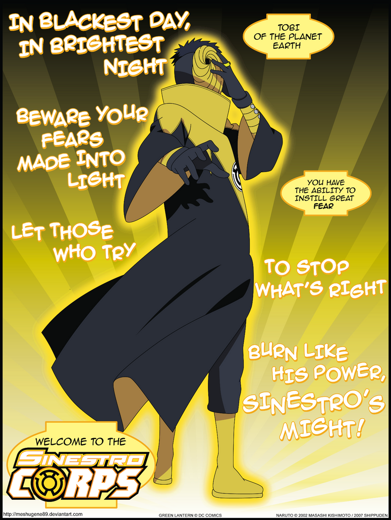 Sinestro Corps Tobi By Meshugene89 On Deviantart