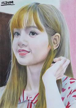 Black Pink-Lisa Colour Pencil Drawing Art | Xszone