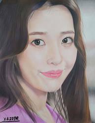 IU-LILAC Colour Pencil Drawing Art by EliNozomi