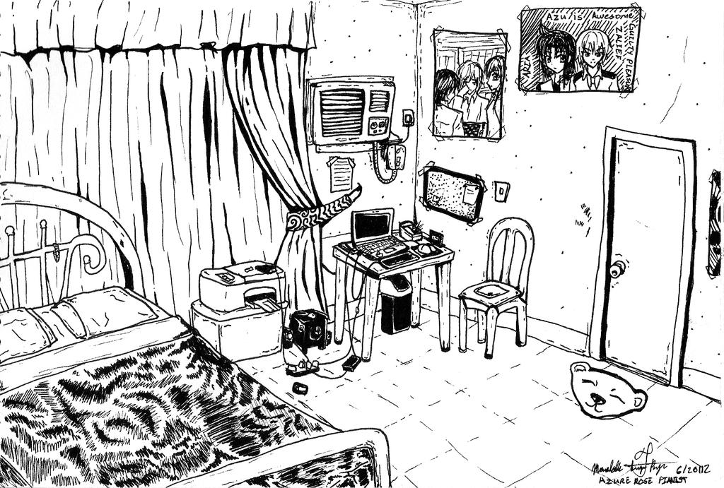 how to draw bedroom Gallery For How To Draw A Messy Bedroom. How To Draw Bedroom Sarah Kujubu Research Drawing Bedroom 301