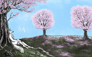 YCH - Cherry Blossom Fields [OPEN] by aviagua