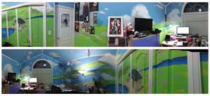 Bedroom Mural: Howl's Moving Castle
