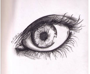 window to the soul - drawing by lintball13