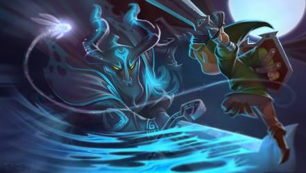 Link vs Phantom Ganon by fenton1107